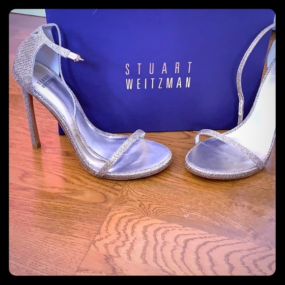150c8907deb Silver/ gold/ glitter Stuart weitzman nudist 9 NWT